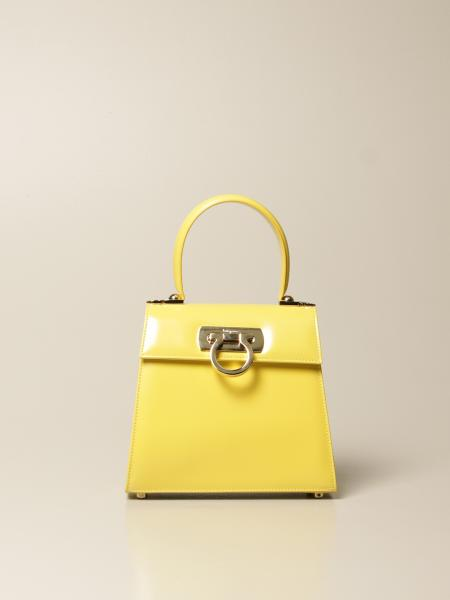 Salvatore Ferragamo women: Creation Salvatore Ferragamo handbag in abrasive leather