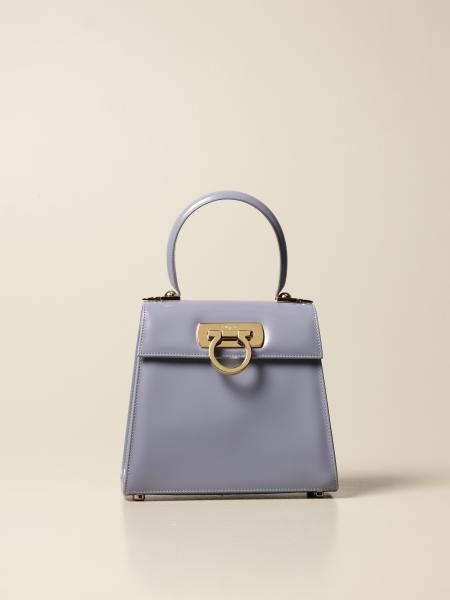 Salvatore Ferragamo: Creation Salvatore Ferragamo handbag in abrasive leather