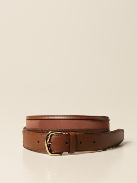 Salvatore Ferragamo: Salvatore Ferragamo leather and nubuck belt