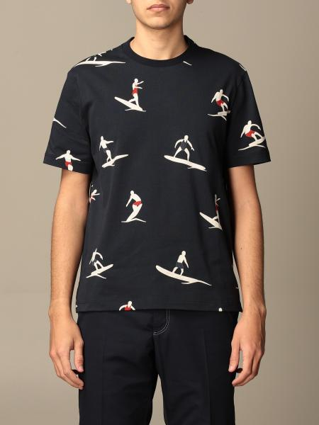 Thom Browne: T-shirt Thom Browne in cotone con stampa surf all over