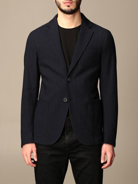 Giorgio Armani: Giorgio Armani herringbone single-breasted jacket