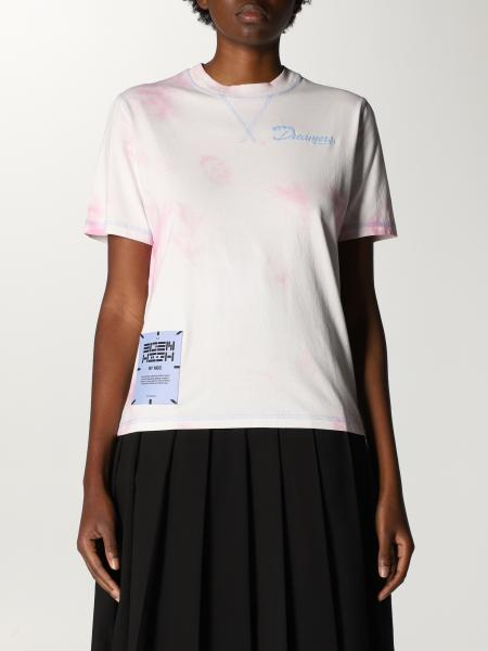 Mcq: T-shirt Eden High by McQ in cotone con logo e stampa tie dye