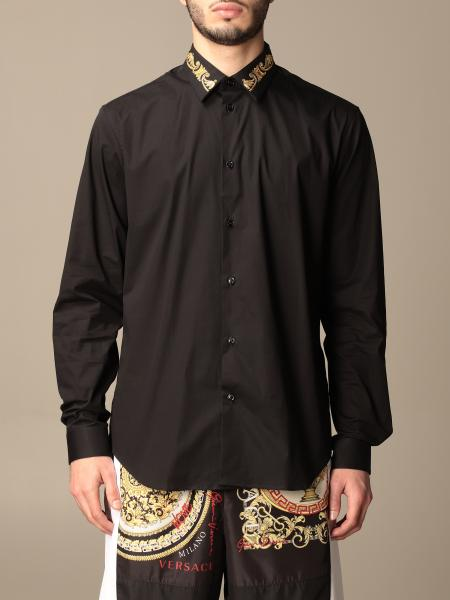 Versace cotton shirt with baroque embroidery