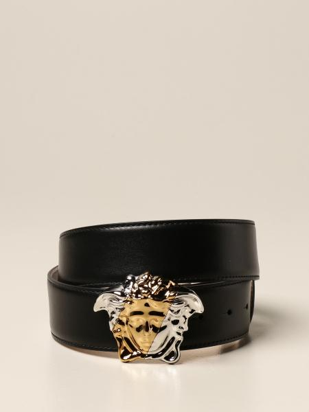 Versace leather belt with Medusa