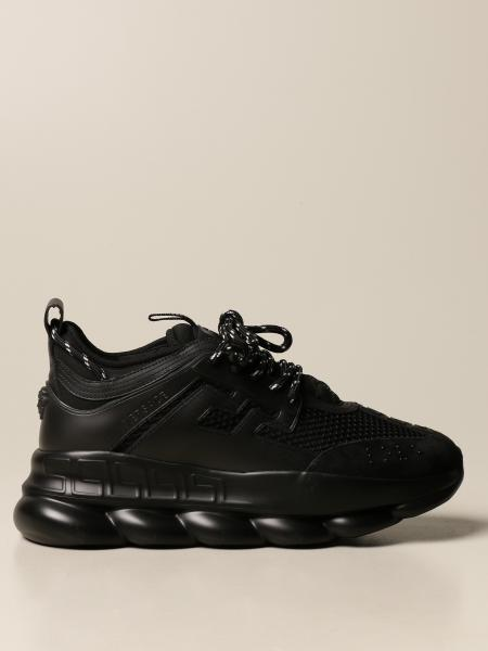 Versace uomo: Sneakers Chain reaction Versace in pelle e rete