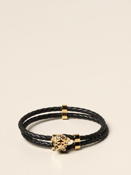 Versace bracelet in woven leather with Medusa
