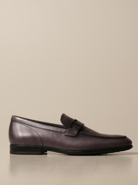 Tod's moccasin in leather with strap and T monogram