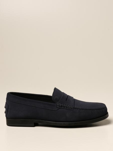 Tod's suede loafers with rubber sole