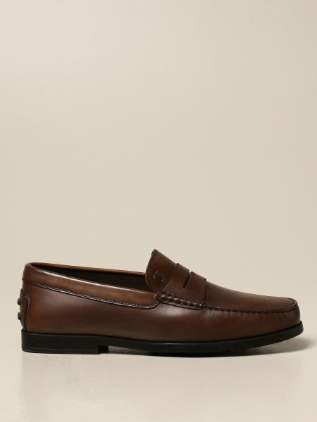 Tod's leather loafers with rubber sole