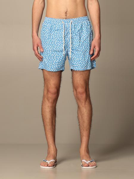 MC2 Saint Barth swim shorts in fish patterned nylon