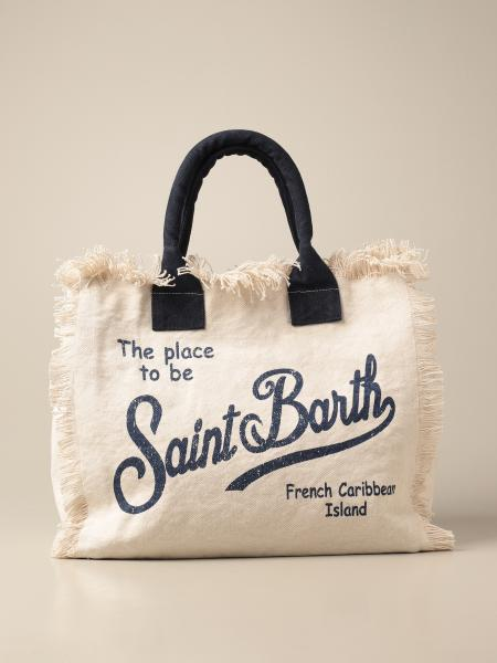 Borsa shopper Vanity Mc2 Saint Barth in canvas