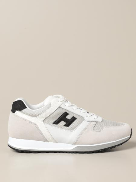 Sneakers H321 Hogan in camoscio con H flock