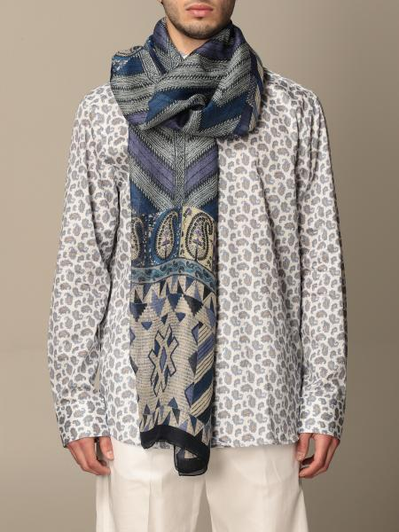 Etro scarf in linen and silk