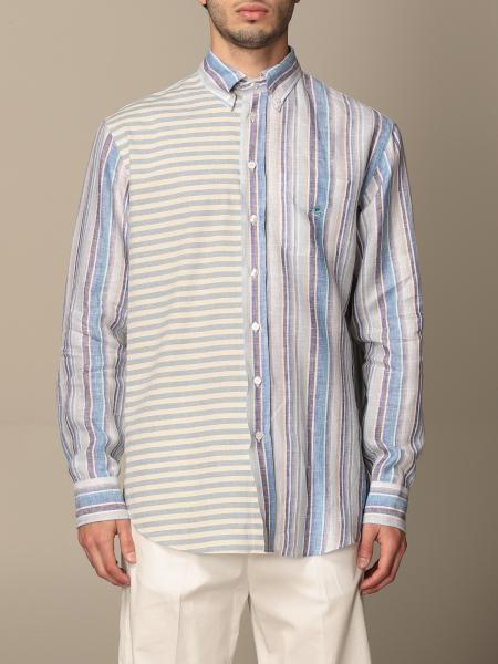 Camicia Etro in cotone con mix di righe
