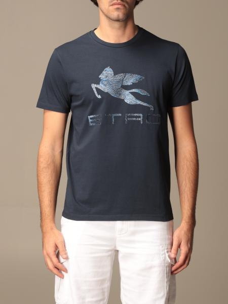 Etro cotton T-shirt with Pegasus