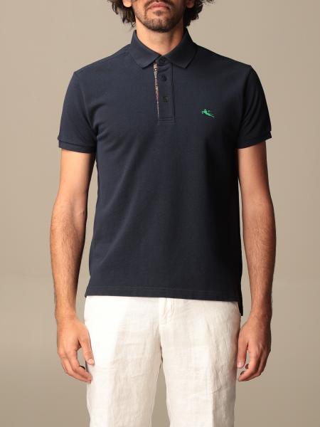 Etro cotton polo shirt with embroidered Pegasus