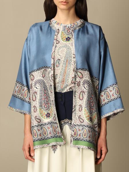 Etro women: Etro kimono cardigan in Paisley silk
