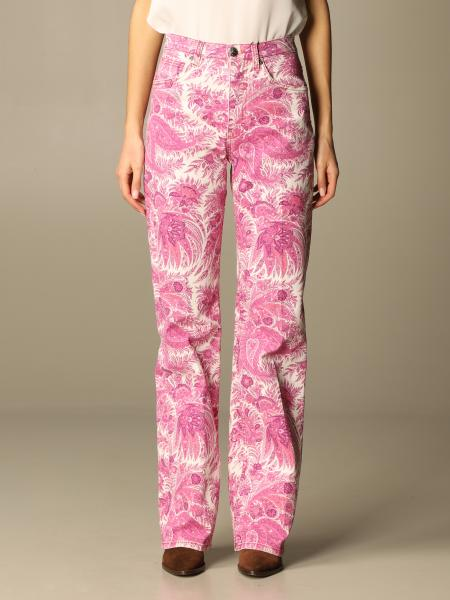 Etro women: Etro patterned jeans