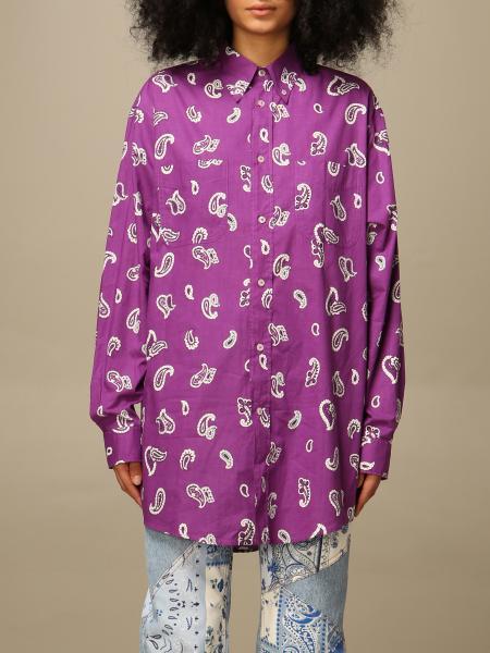 Etro women: Etro oversized shirt in patterned cotton