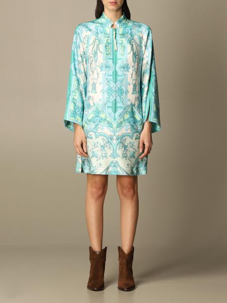 Etro women: Etro tunic dress in printed silk
