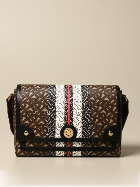 Borsa Burberry in E-canvas con stampa monogram