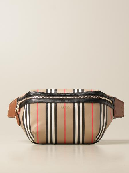 Sonny Burberry belt bag in e-canvas with striped pattern