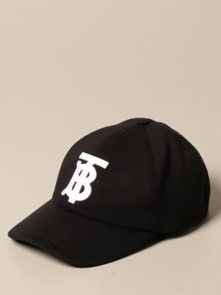 Burberry uomo: Baseball cotone logo