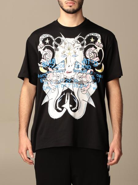 Burberry cotton t-shirt with mermaid logo