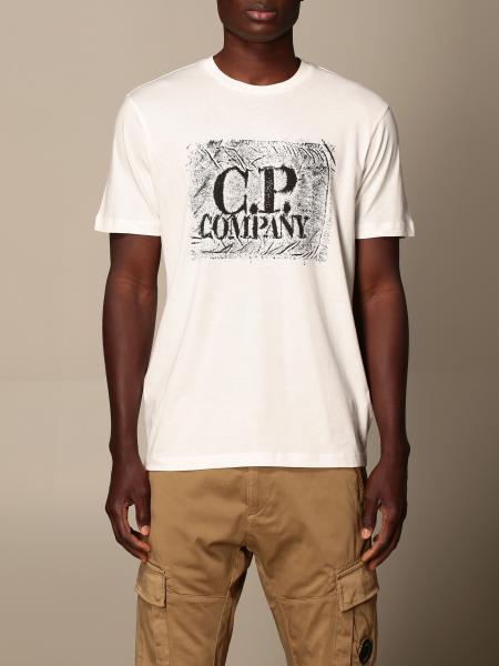 C.p. Company uomo: T-shirt C.P. Company in cotone con big logo