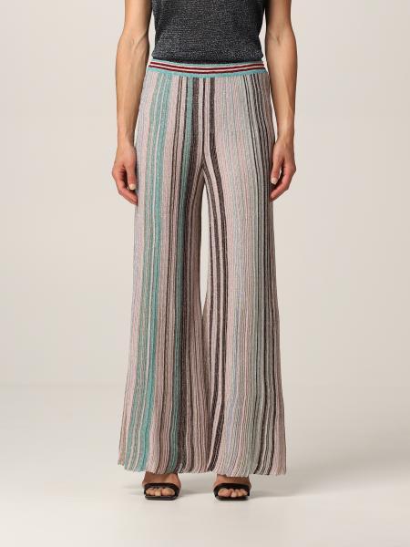 Wide Missoni trousers in lurex striped knit