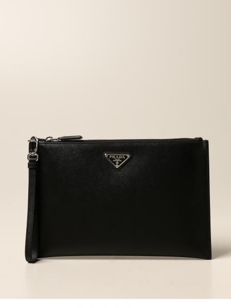 Prada clutch in saffiano leather