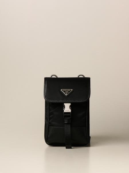 Prada crossbody bag in nylon and saffiano leather