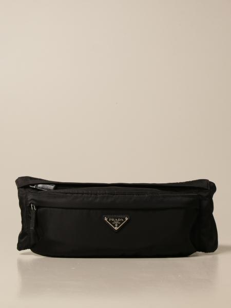 Prada pouch in technical nylon with triangular logo