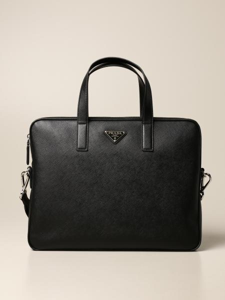 Prada business bag in saffiano leather