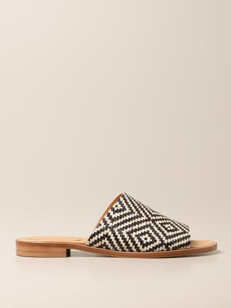 Anna F.: Anna F. flat sandals in printed leather
