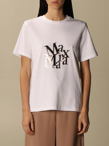 S Max Mara: T-shirt Saletta S Max Mara in cotone con logo