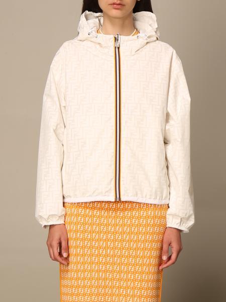 Fendi women: Fendi x K-Way® jacket in reversible nylon