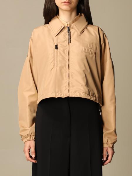 Fendi women: Fendi cropped jacket with logo