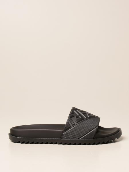 Fendi rubber sandal with embossed FF logo
