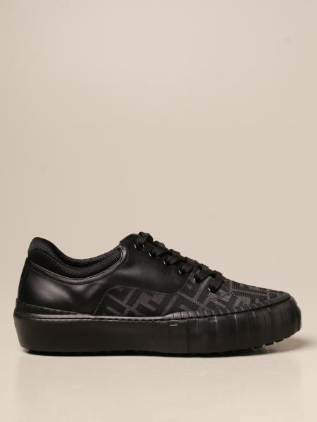 Fendi uomo: Sneakers Fendi in pelle e tessuto FF