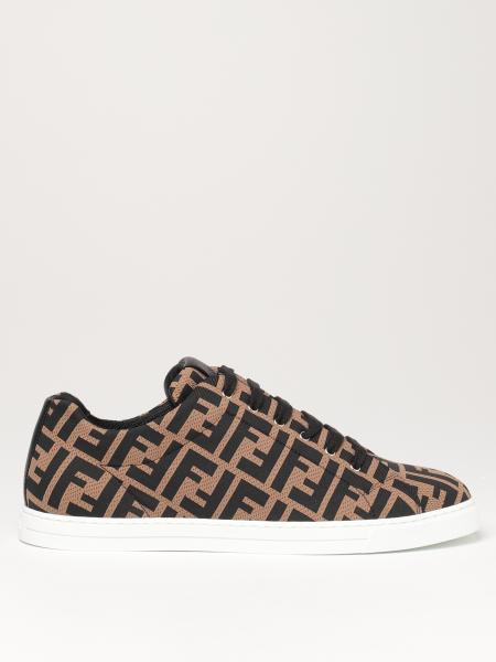 Fendi low top trainers in FF knit