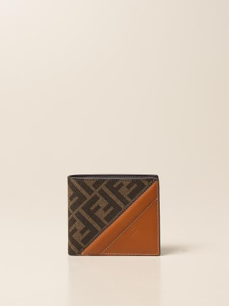 Fendi leather wallet with FF monogram
