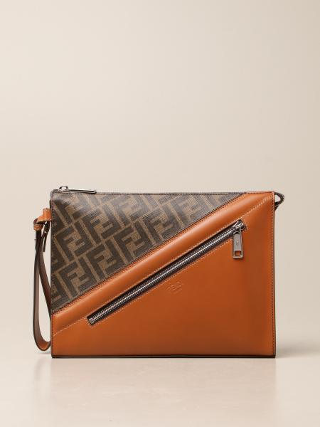 Fendi leather bag with FF logo