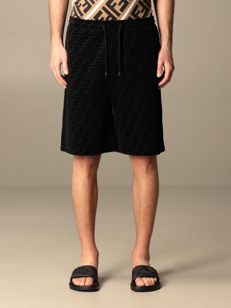 Fendi jogging bermuda shorts in cotton with all-over FF logo