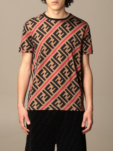 Fendi cotton T-shirt with all-over FF logo