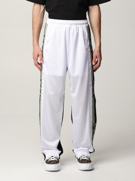 Pantalone jogging Fendi bicolor con bande FF