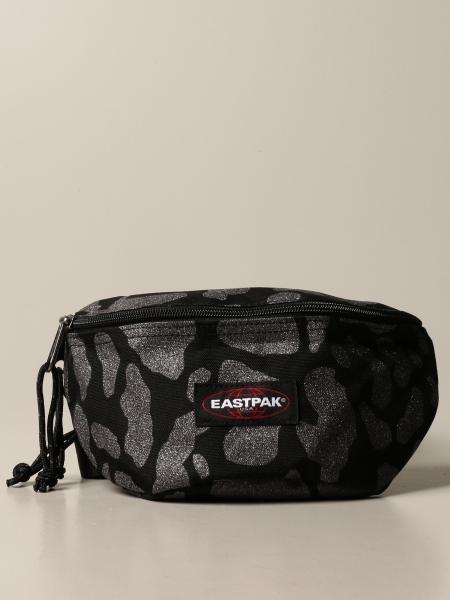 Eastpak belt bag in animalier canvas with lurex