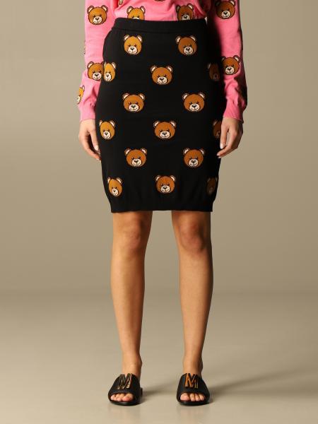 Gonna in maglia Moschino Couture con teddy all over