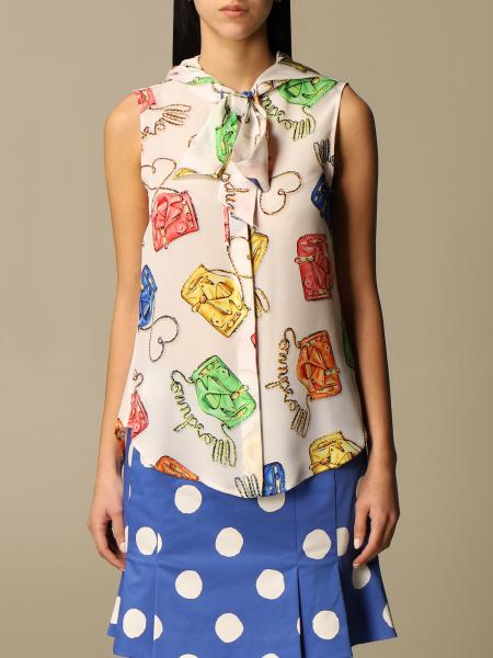 Moschino Couture shirt in patterned silk