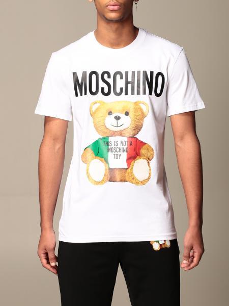 T-shirt Moschino Couture in cotone con logo teddy